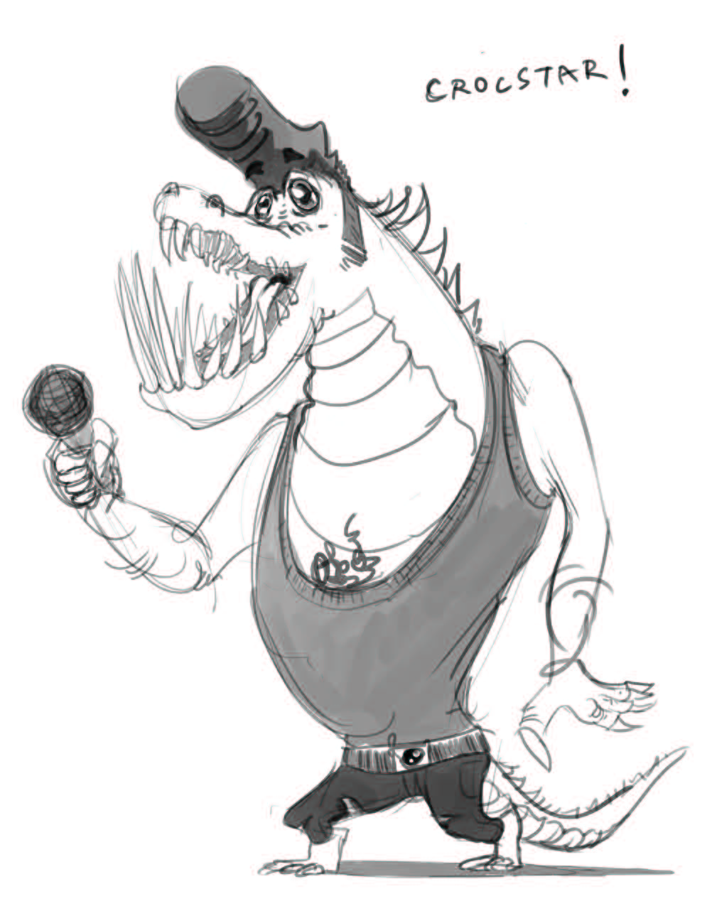 Character Design: Crockstar A pretty hip gator with the voice of an angel. Just look at that smle!