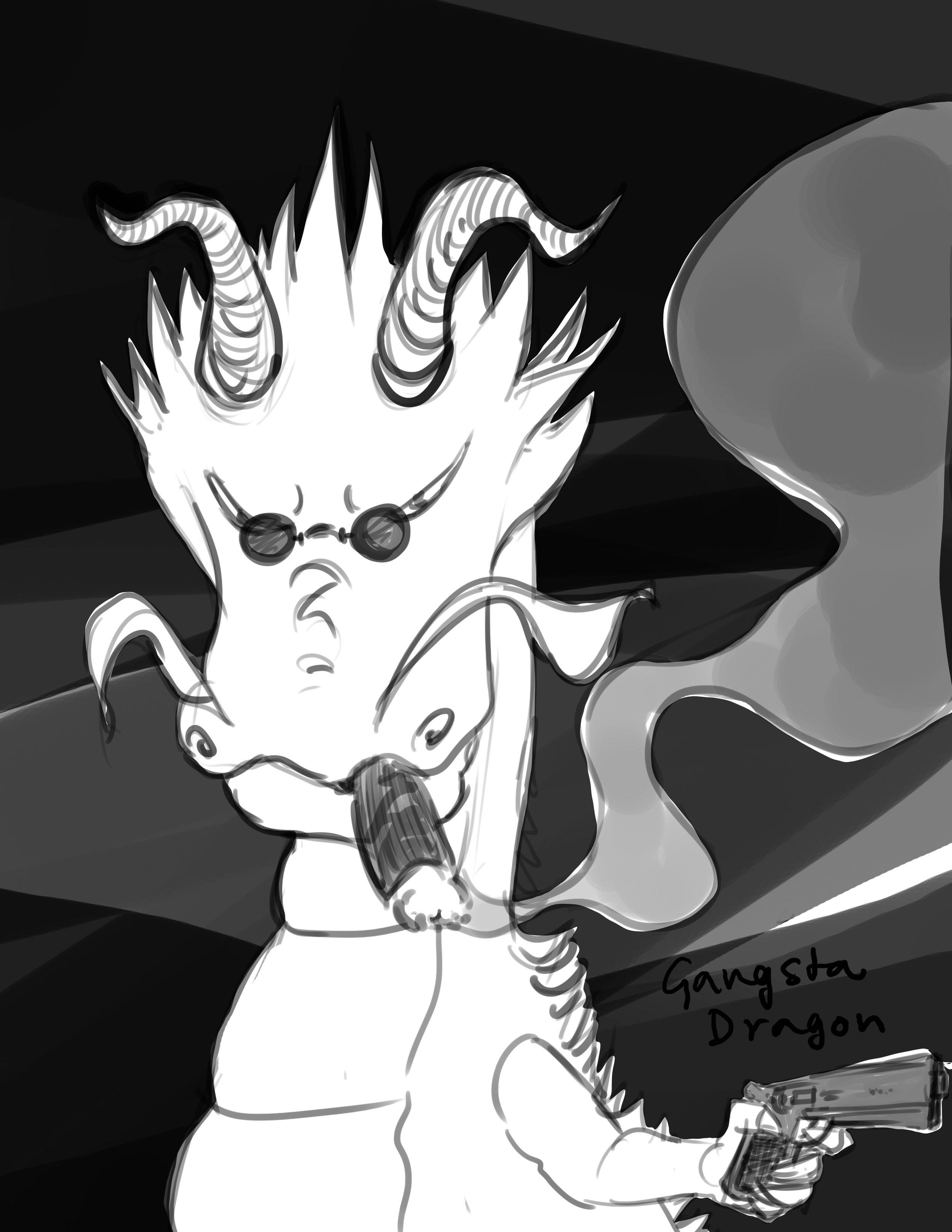 Character design - Gangsta dragon.jpg
