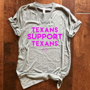 Texas Two Boutique | Texans Support Texans Tee, $20