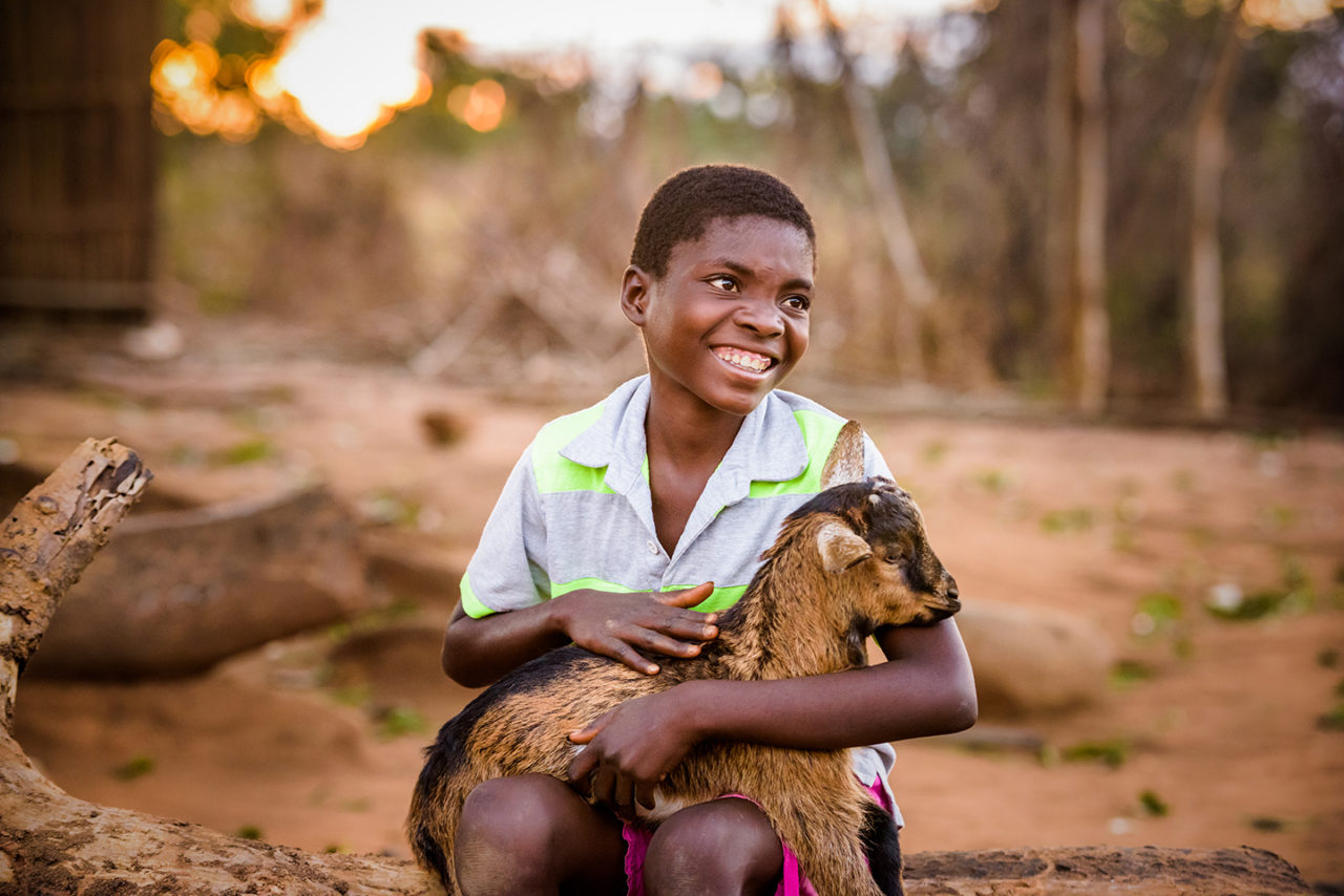 Rosemary and her family now own 22 goats. They started their journey with just five. (©2017 World Vision/photo by Jon Warren)