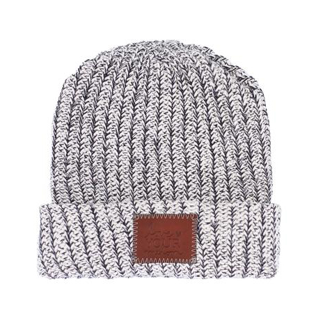 BLACK SPECKLED CUFFED BEANIE