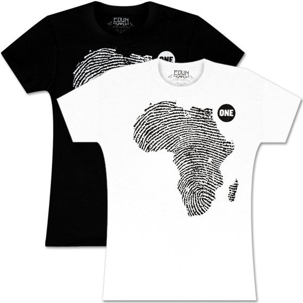 Women's ONE Shirt By EDUN: African Thumbprint