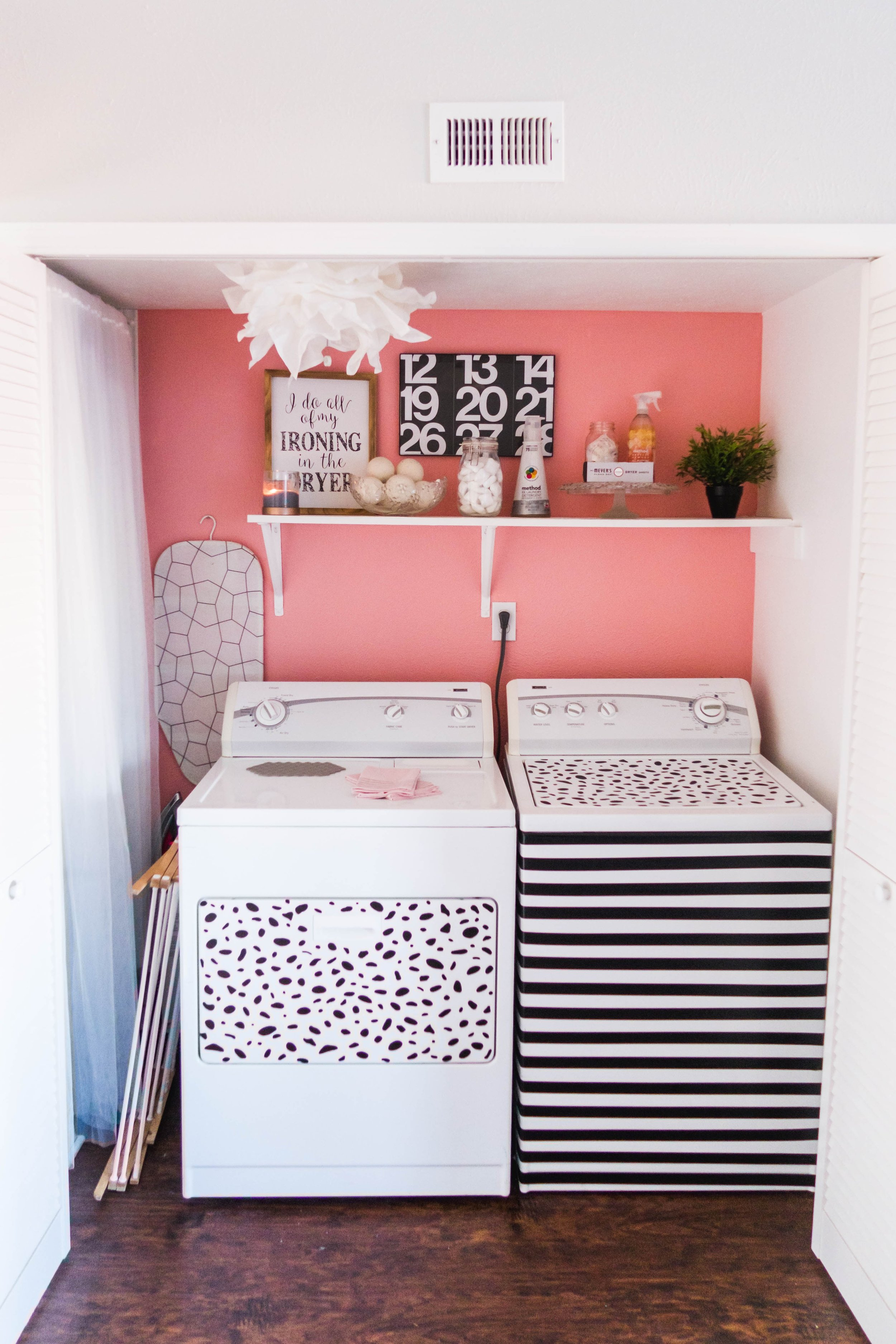 Millennial Pink Laundry Room