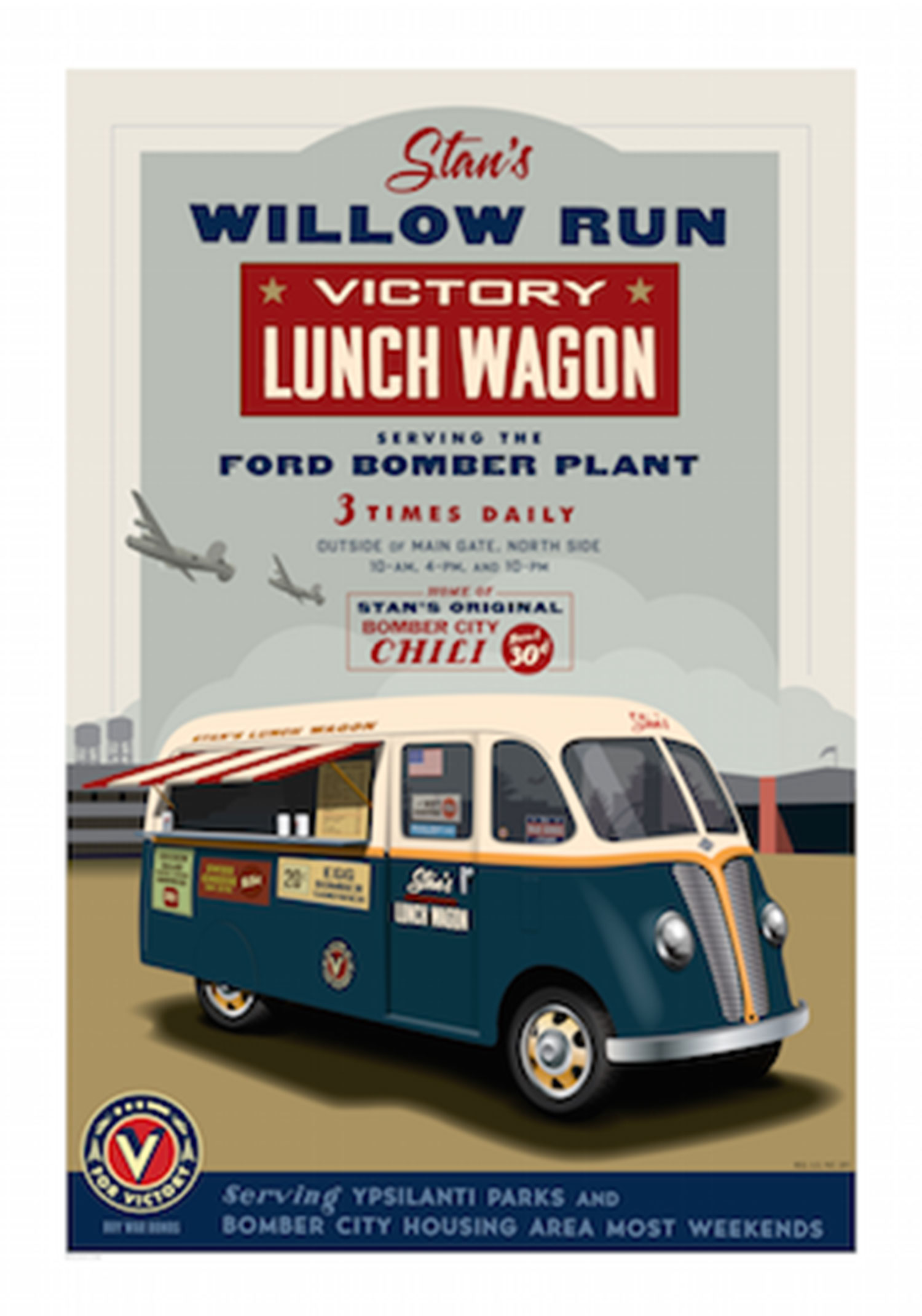 Willow Run Victory Lunch Wagon Poster