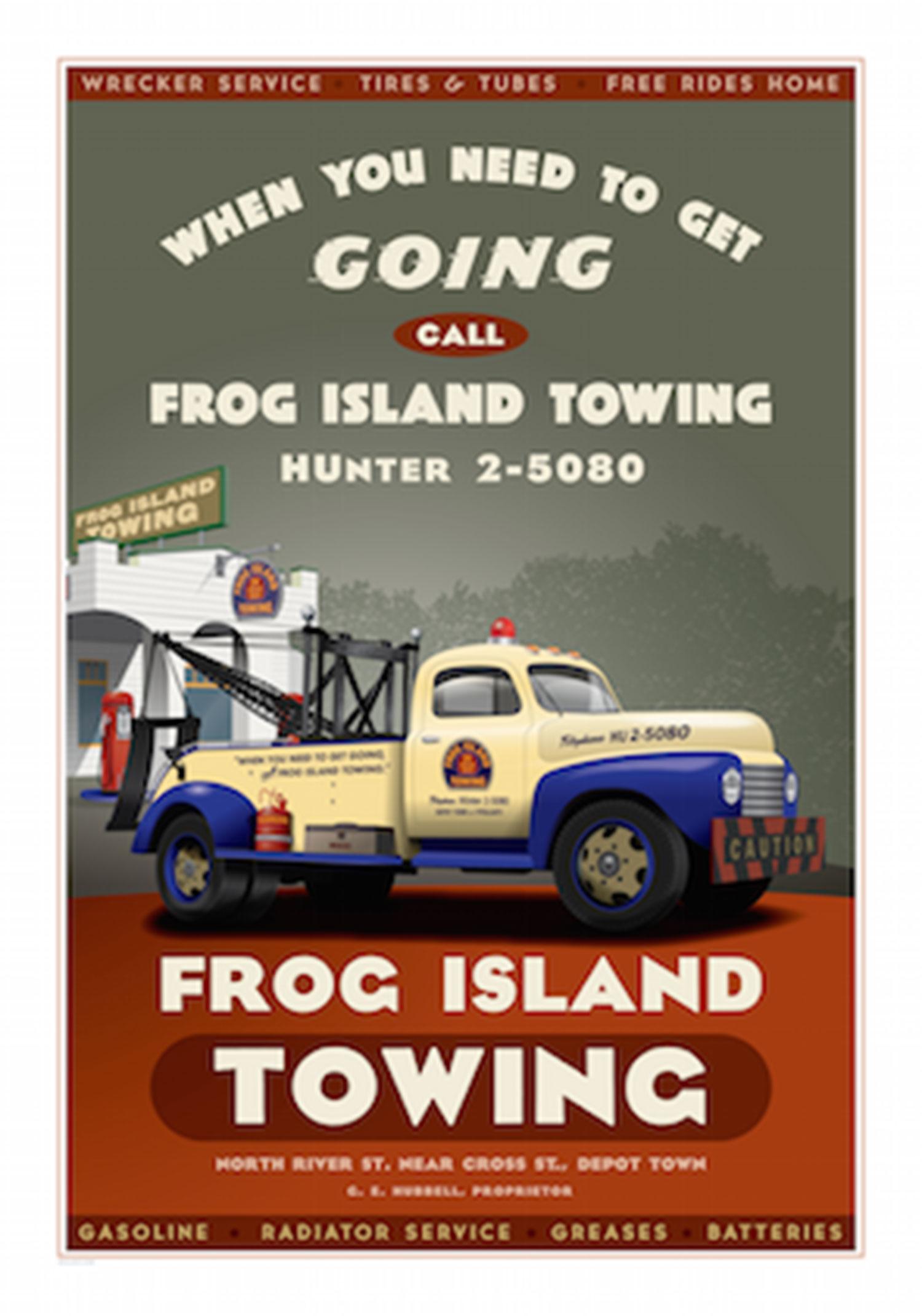 Ypsilanti Frog Island Towing Poster