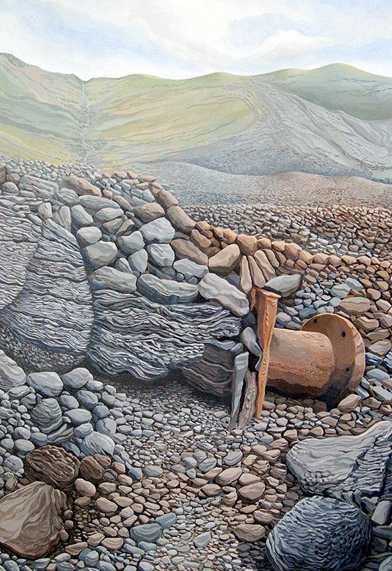 Mountain Beach -  Traeth y Mynydd  625mm x 905mm, acrylic - acrylig   Price -  Pris  £2,995