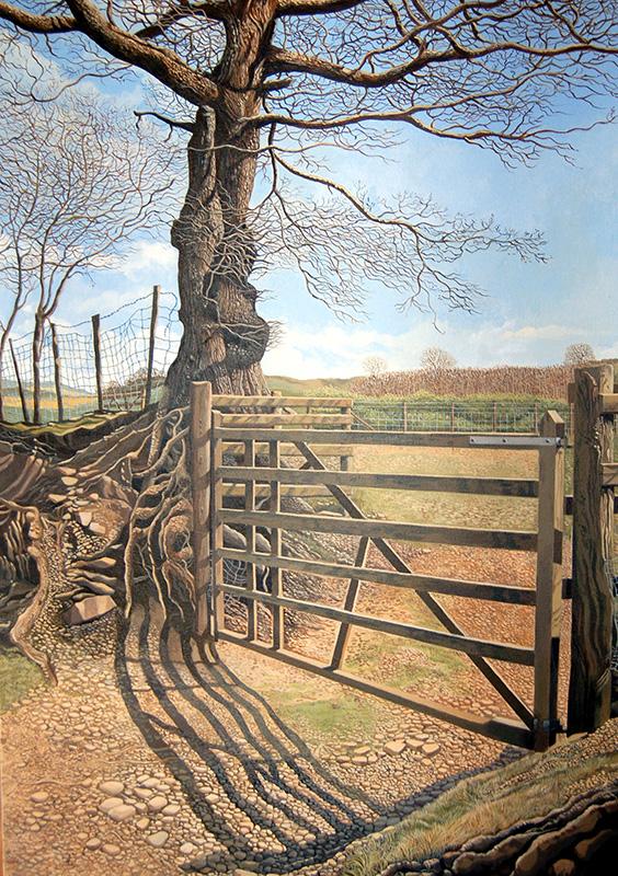 The New Gate - Y Gat Newydd   625mm x 905mm, acrylic - acrylig   SOLD - Gwerthu