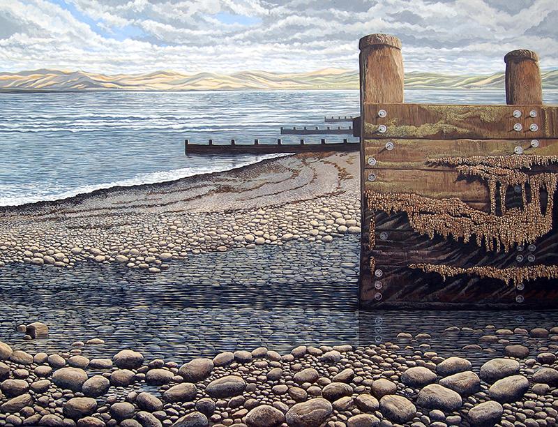 Whispering Sea - Murmur y  Môr    1220mm x 910mm, acrylic - acrylig    Price -  Pris  £9,950