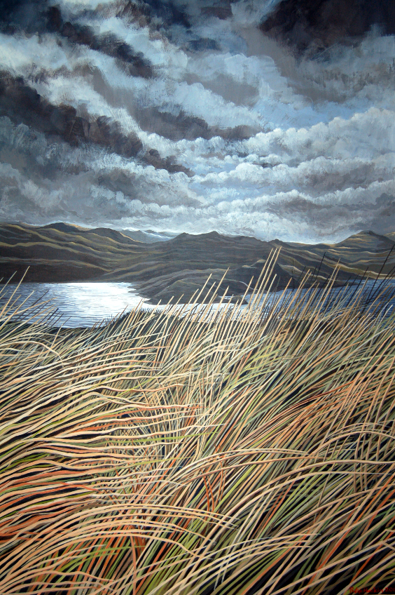 Whispers In The Reeds -  Sibrwd y Cyrs     Acrylic –  A  crylig      (560 mm x 880mm)  £TBC