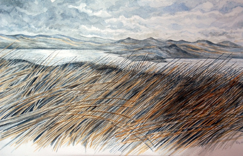 Lake, Mountain and Wind -  Llyn, Mynydd a Gwynt     Watercolour –  Dyfrlliw  (380 mm x 550 mm)  £TBC