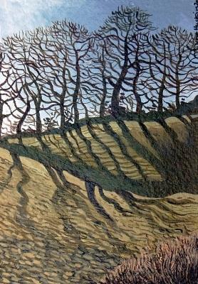 Shadow of Trees -  Cysgod Y Coed  120 mm x 70 mm, acrylic - acrylig    Sold  - Gwerthu