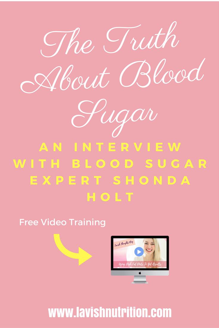 weight loss & blood sugar