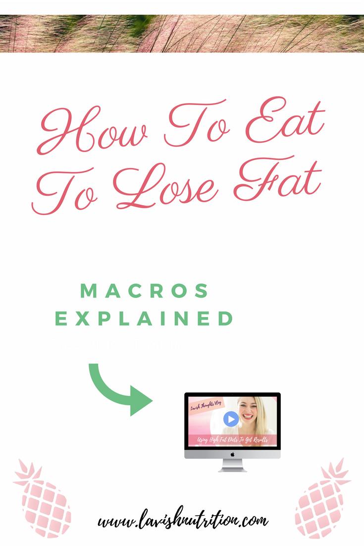 fat loss & macros