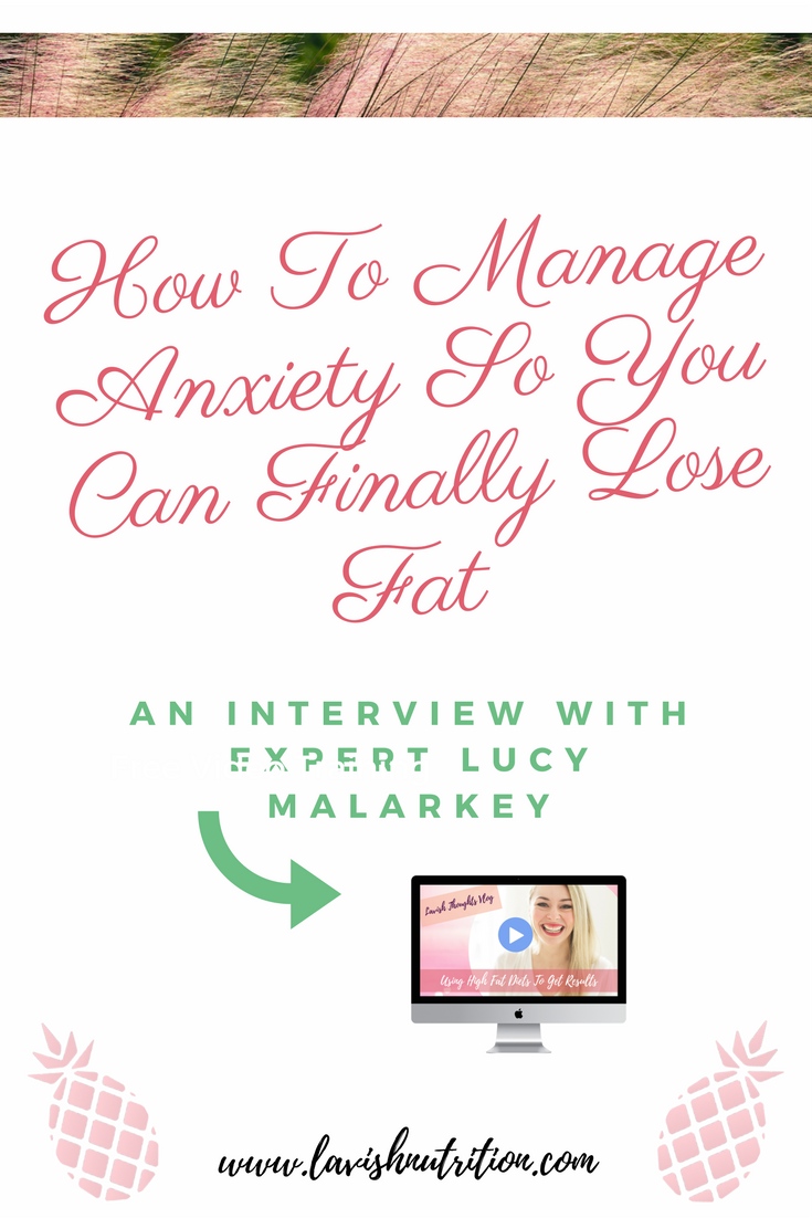 fat loss and anxiety