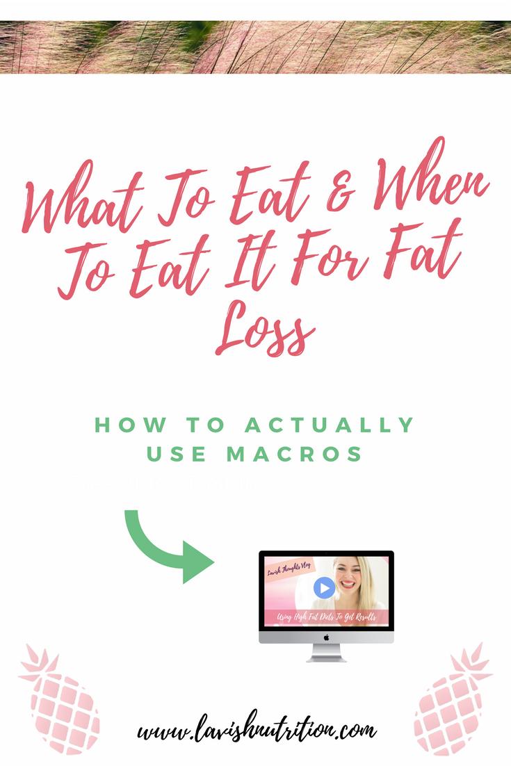 Macros and Fat Loss
