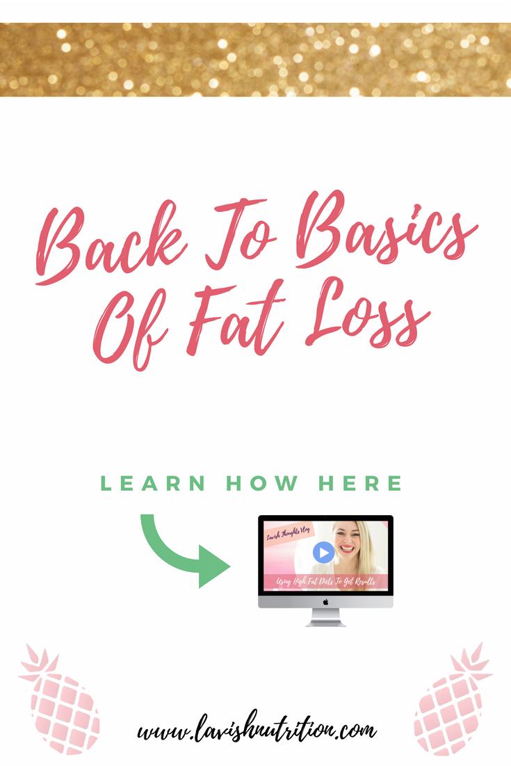 Basics Of Fat Loss