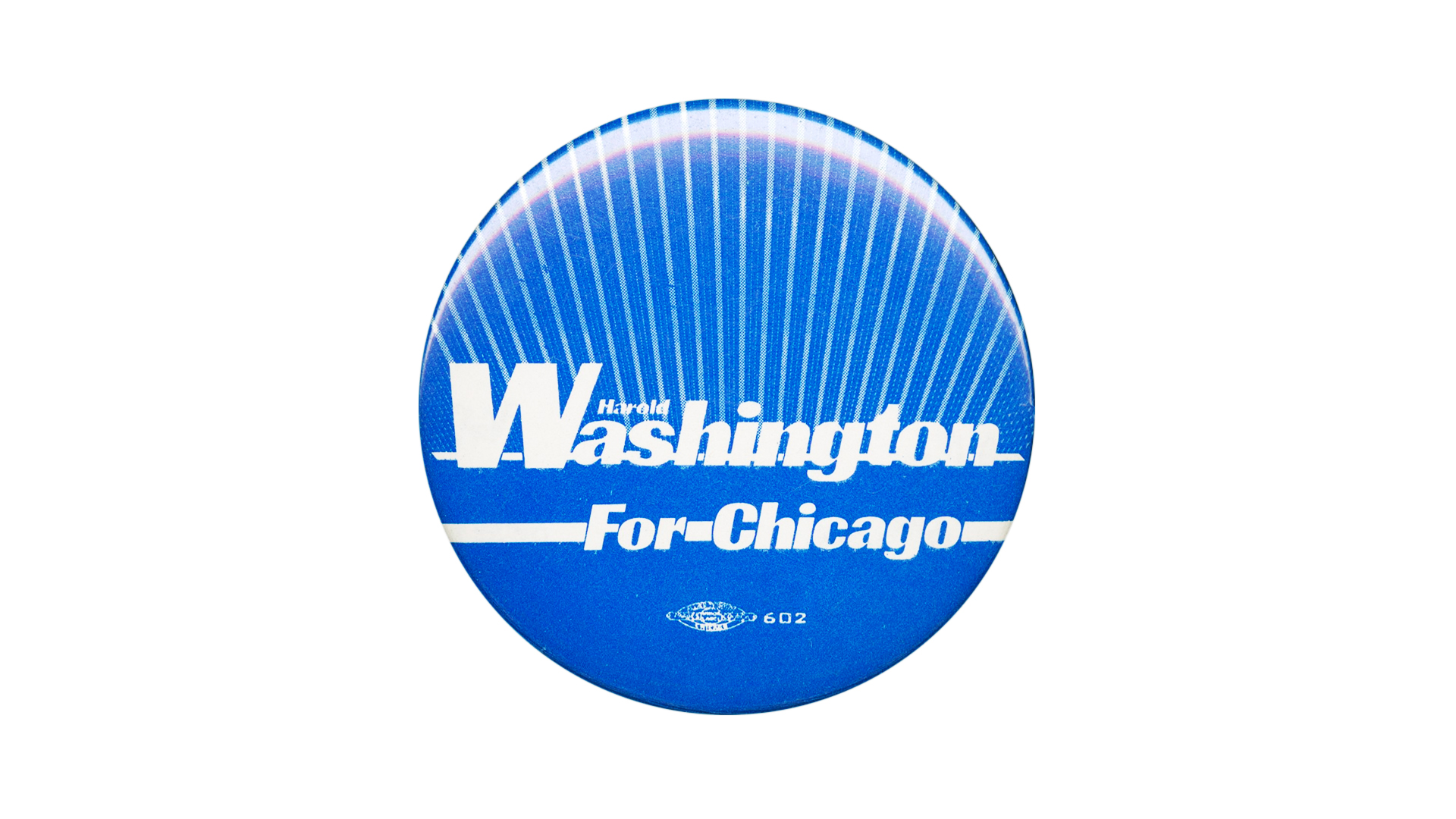 Campaign Button for Harold Washington, 1983