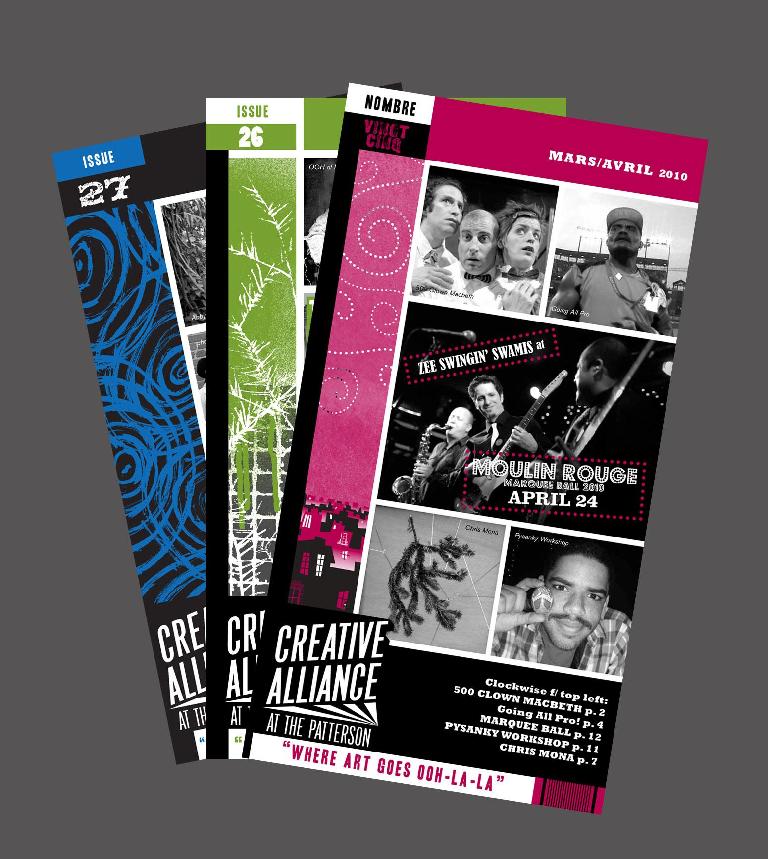 Monthly catalog and event calendar