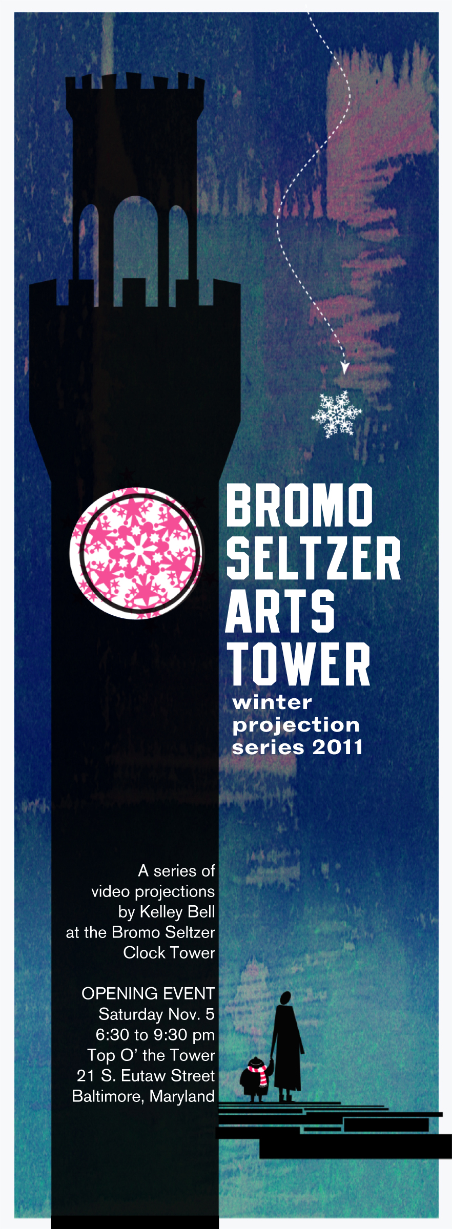 Promotional Poster for Bromoseltzer projection series, winter 2012.