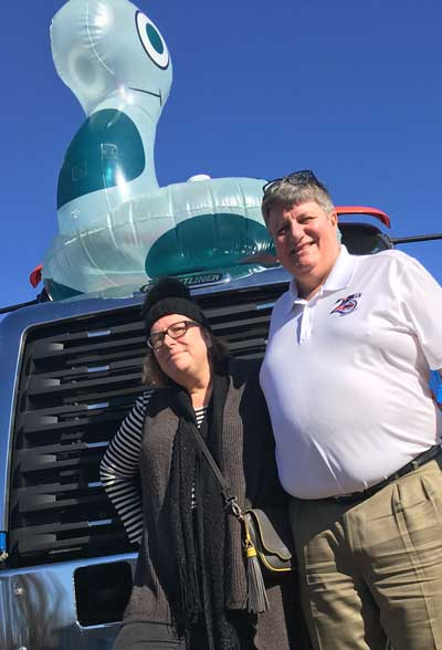 Mike and me and a giant Herd truck.