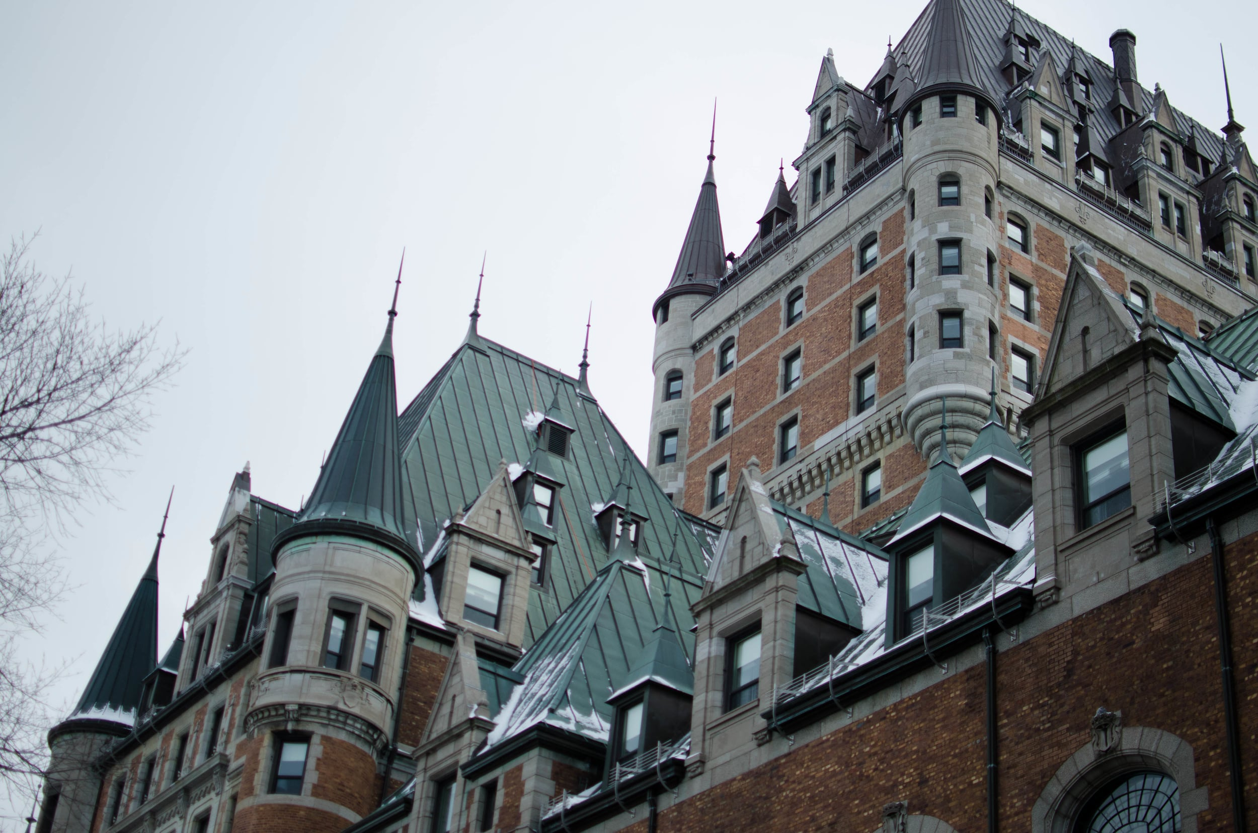 Chateau Frontenac — a big fancy hotel.