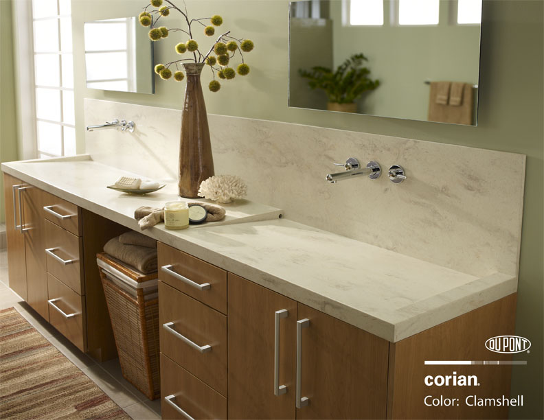 Corian Clamshell Bathroom Vanity