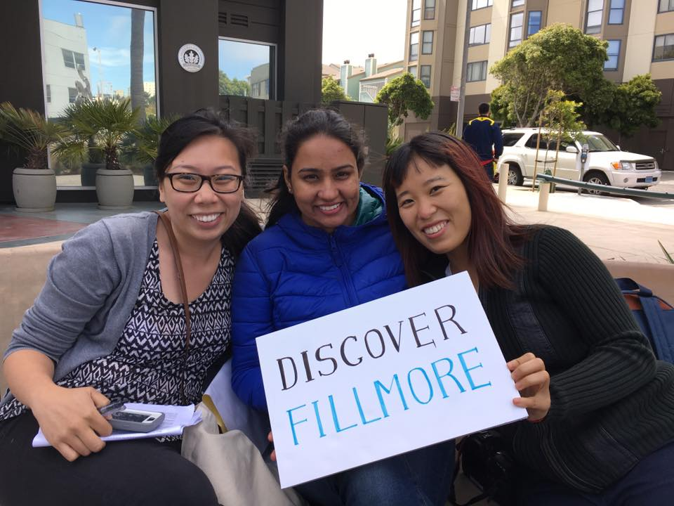 Some of the Discover Fillmore team: Kristine, Vanika and Sida