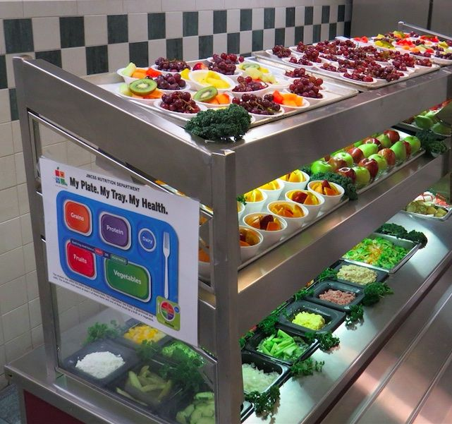 Lighting can highlight healthy choices.  Photo credit:https://www.pinterest.com/explore/county-schools/