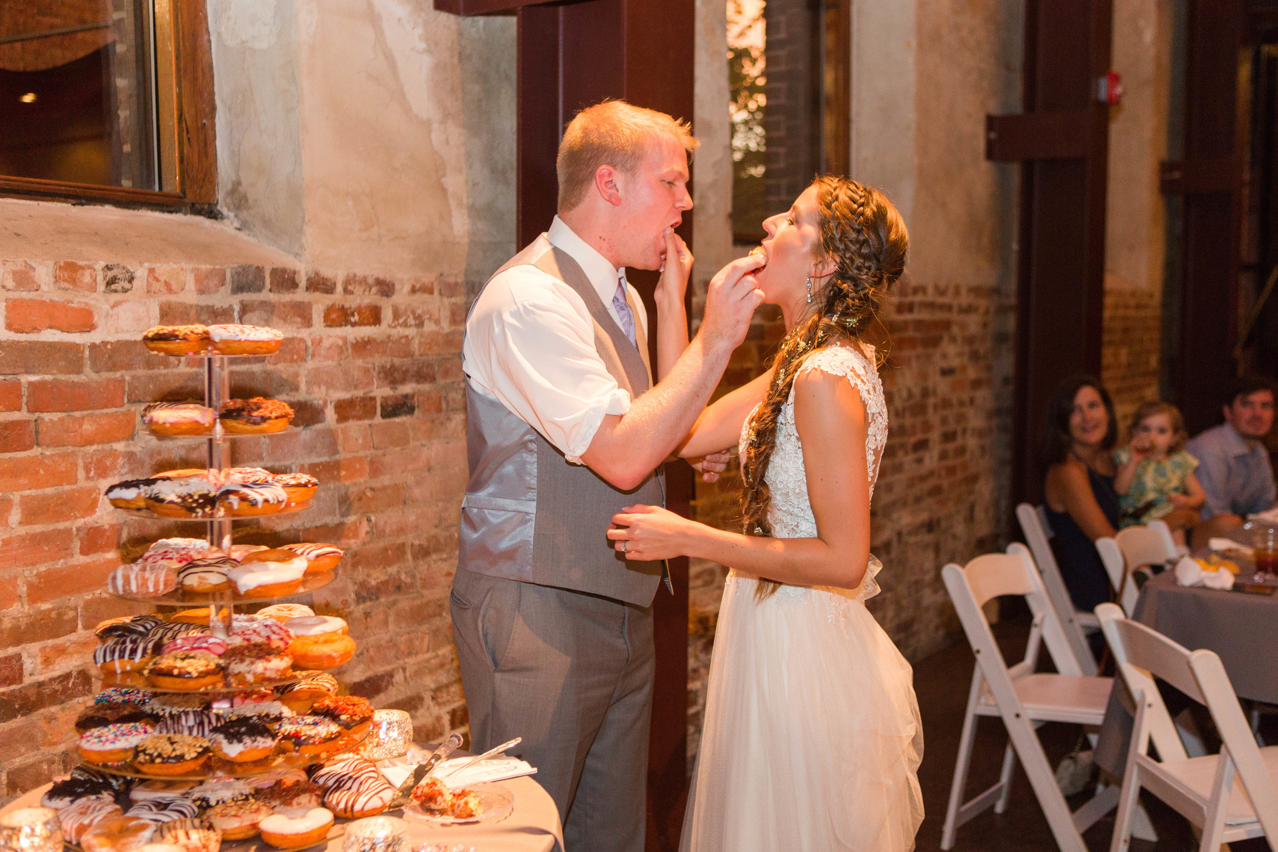 Instead of cake, they chose to serve Duck Donuts!! Don't they look delicious?