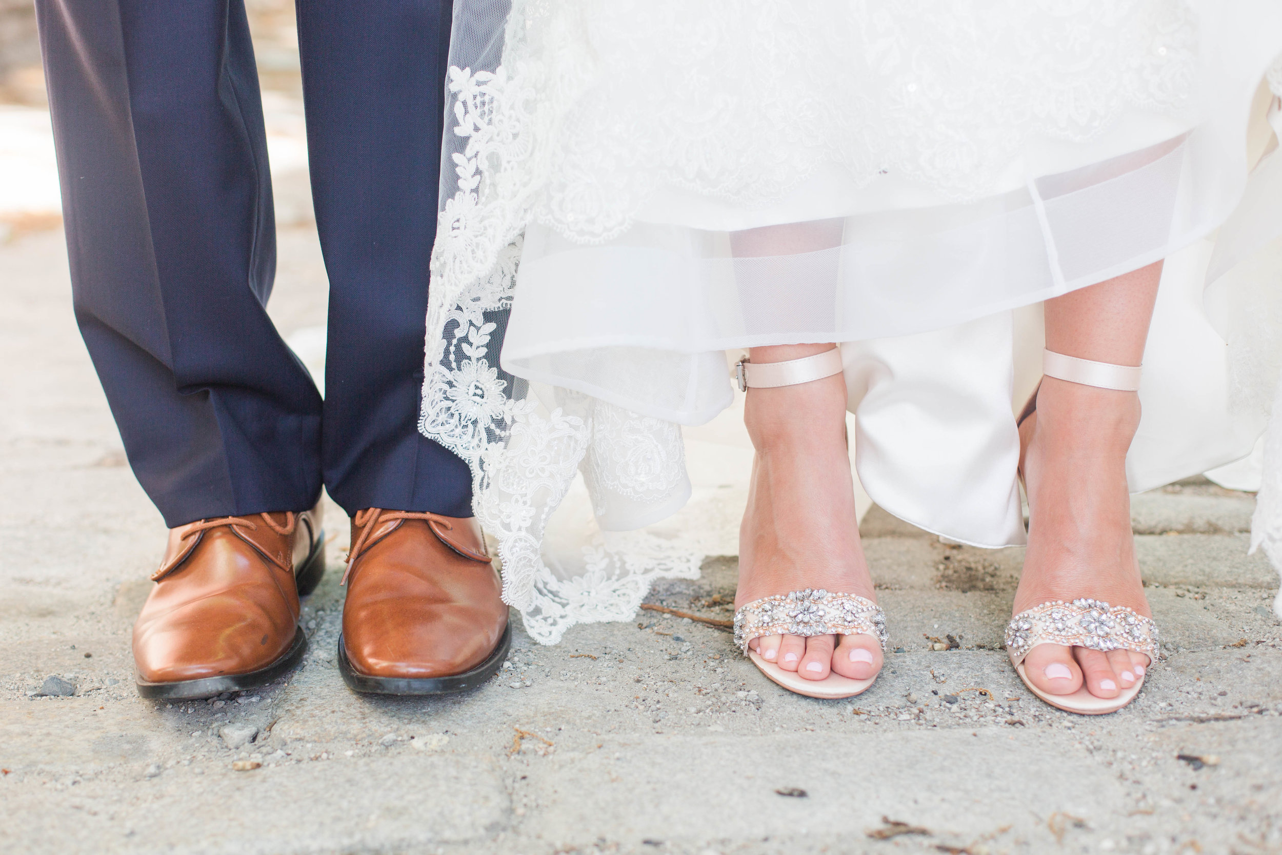 I loved both Rachel and Christian's shoes so I just had to get a shot like this!!