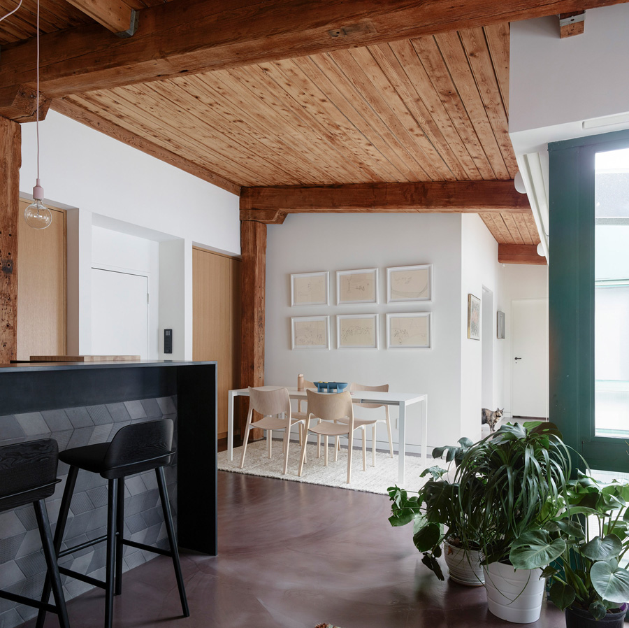 Dezeen   Charred Wood Boards Clad New York Pool House by General Assembly    General Assembly Exposes Wooden Beams Inside Revamped Brooklyn Loft