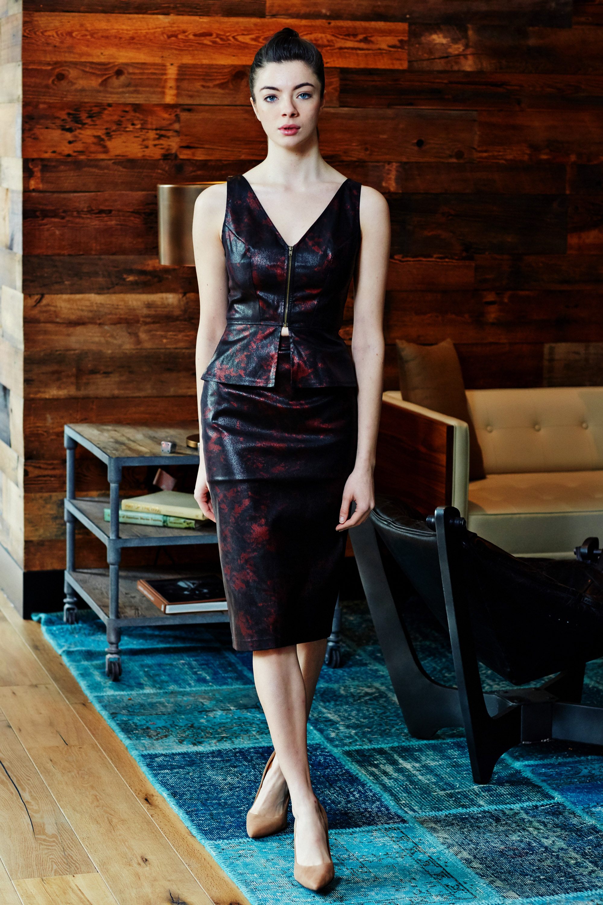 Minika-Ko-Kovasky-Collection-Lookbook-Fashion-Performance-Fabrics-Black-and-Red-Faux-Leather-Vest-and-Pencil-Skirt-Career-Wear-Business-Casual-Style.jpg