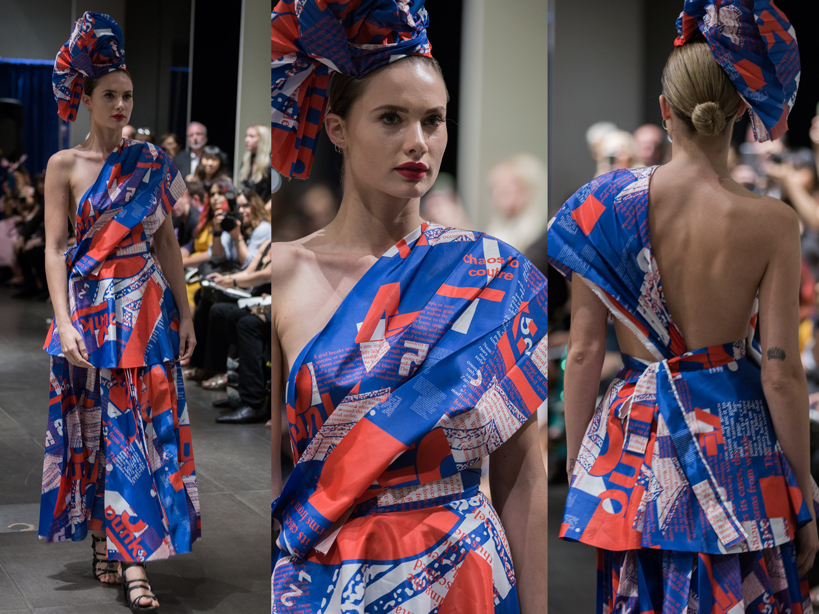Graphic design by SVA Student: Young Gyun Woo.This dress was designed and made by Minika Ko Atelier.