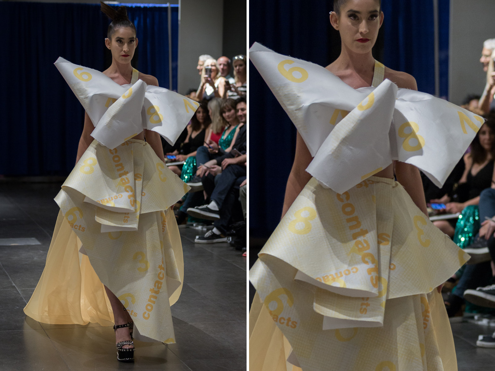 Graphic design by SVA student:Liang Dai.This dress was designed and made by Minika Ko Atelier.