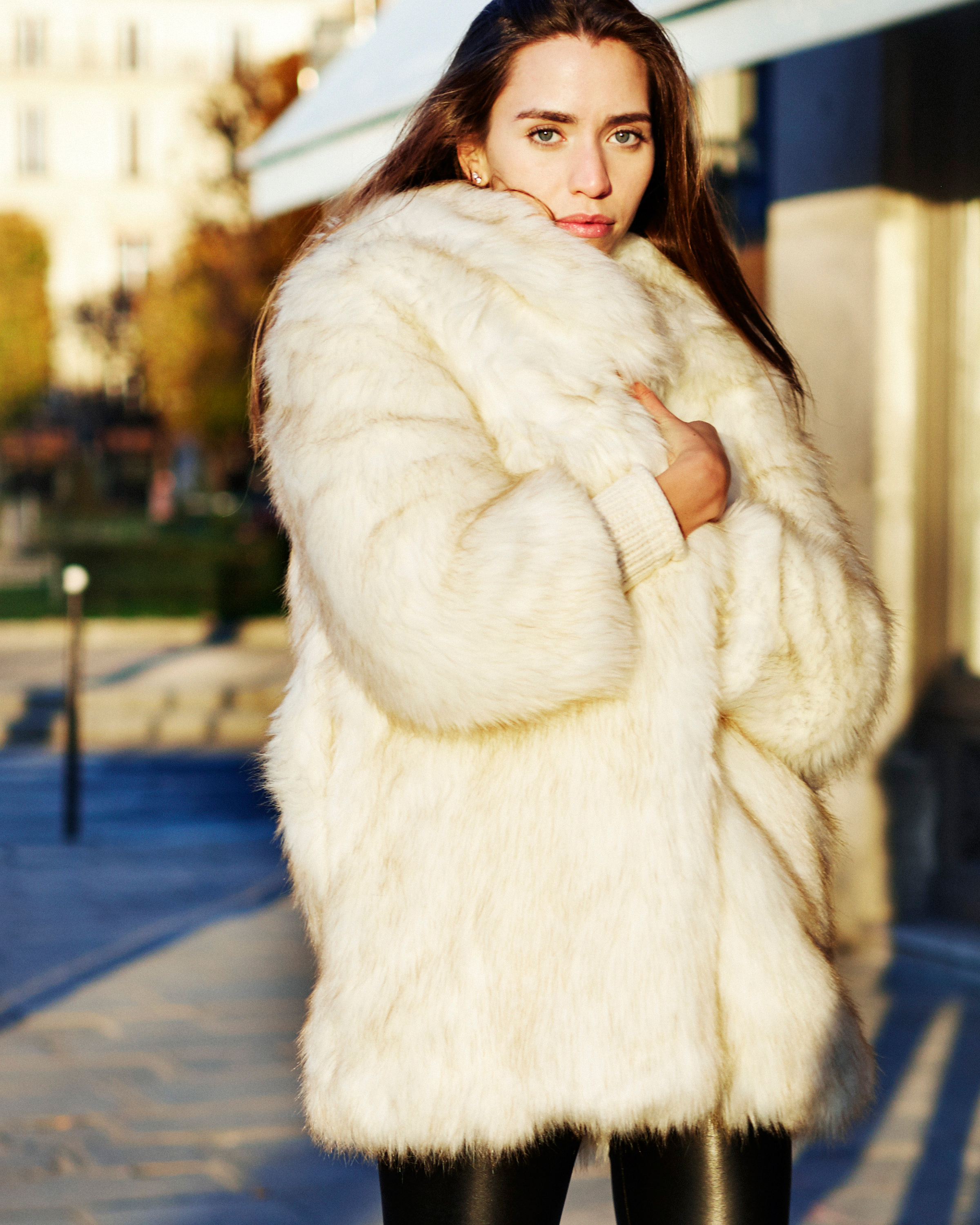 Faux fur coat by Minika Ko. Photographed by Tom Concordia