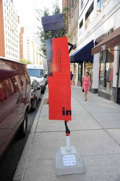 Language of Fashion Public Art Installation on Madison Avenue. Curator Linda Fargo. Fashion designer mentor, Minika Ko.