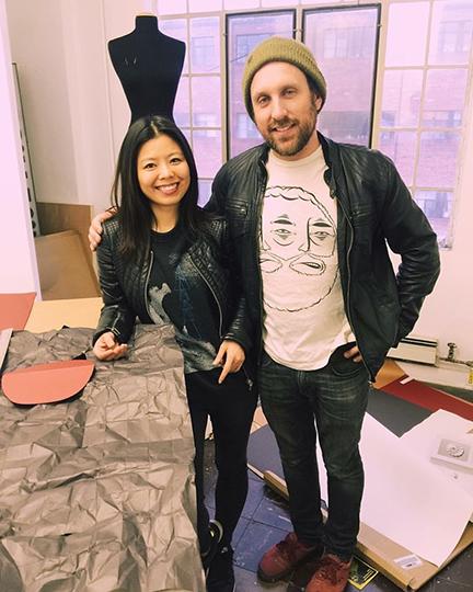 Fashion designer Minika Ko and Denver artist Derek Keenan