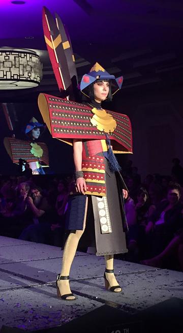 Paper Samurai Armor created by Minika Ko, Derek Keenan, Sarah Rose, and Allison Shaw for Denver Art Museum