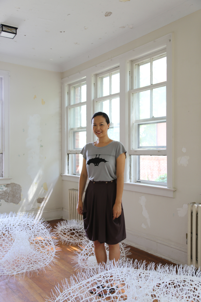 Sui Park  is a New York based artist born in Seoul, Korea. Her work involves creating 3-dimensional flexible organic forms of a comfortable ambiance that are yet dynamic and possibly mystical or illusionary. Sui Park's education includes MDes in Interior Architecture at Rhode Island School of Design in 2013 and BFA in Environmental Design at Maryland Institute College of Art in 2011. Sui Park also has MFA and BFA in Fiber Arts at Ewha Womans University, Seoul, Korea