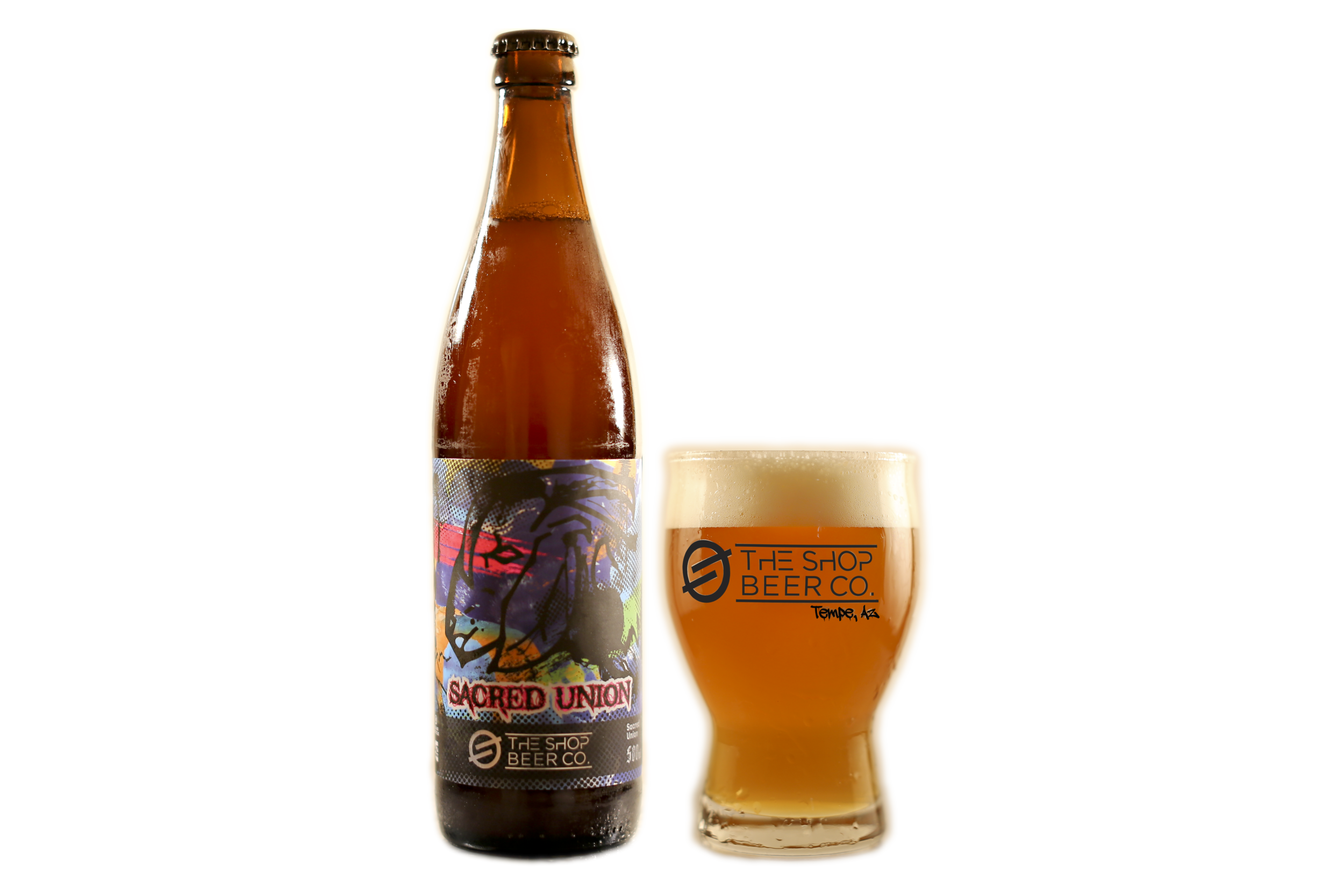 TheShopBeer_Sacred Union_Bottle and glass.png