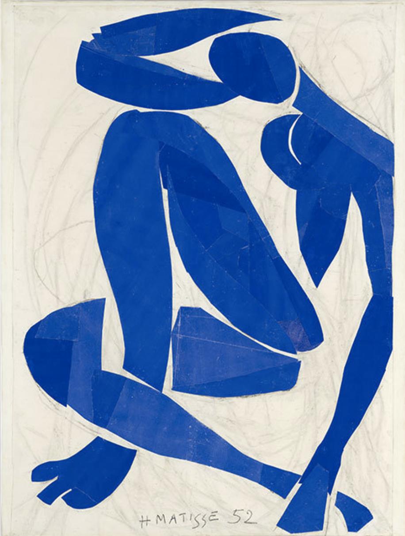 Nu Bleu IV  (1952) by Henri Matisse