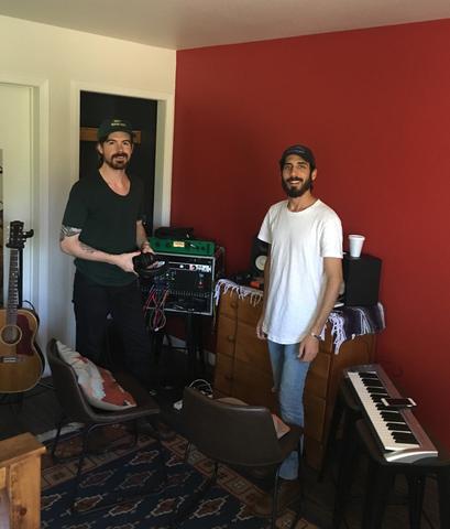 Recording in Cabin 10.