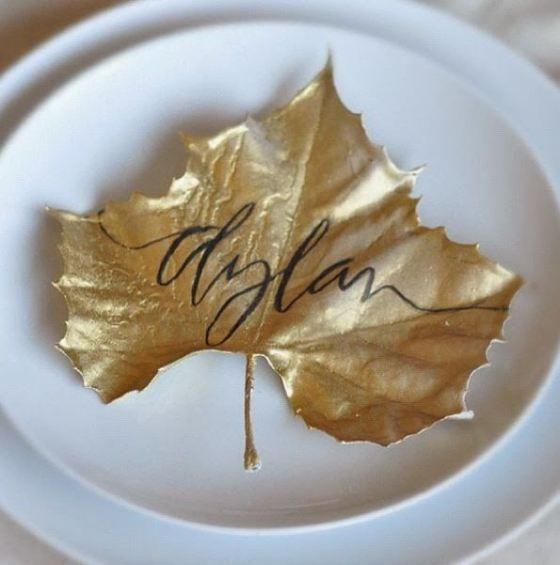 Fall Decor: Gold Leaf + Lettering