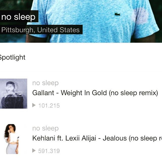 ayy my weight in gold remix hit 100k! go listen if you haven't! 😴