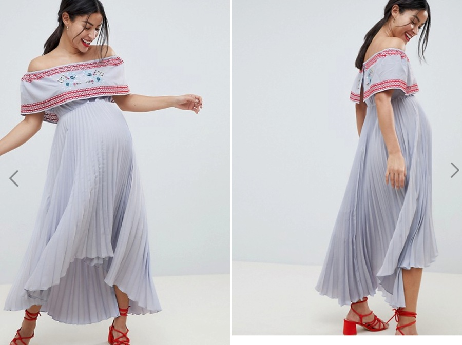 Flowy fun - We can have fun with the movement of this dressColour is fabulousOff the shoulder is very flatteringIn at the waist gives shape