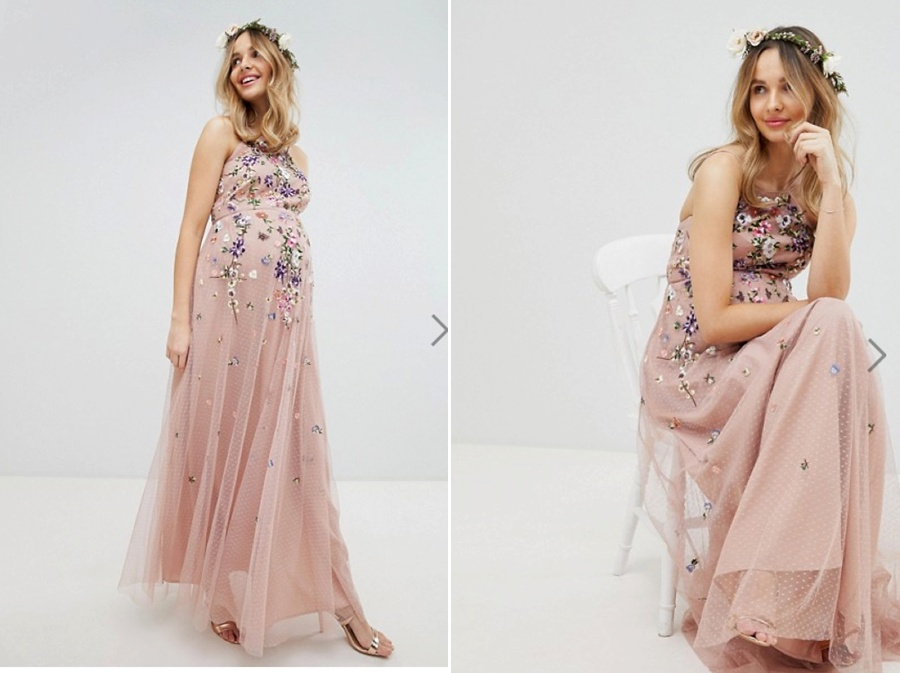 Floral - This dress is gorgeousEspecially if you like your armsLovely waist definitionFlowy SkirtGreat ColourBeautiful simple detailsJust buy itAnd the flower crown