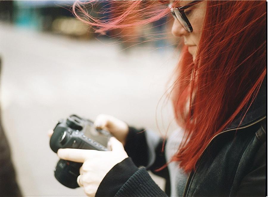 My friend Lisa taken on a medium format film camera. {London}