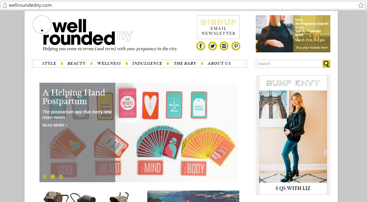 Well Rounded covers a number of topics, including one of my favs: #BumpEnvy @WellRoundedNY