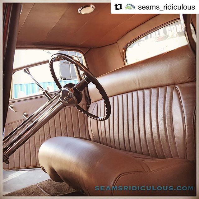#Repost @seams_ridiculous with @repostapp ・・・ #sema2016 is done! Had a blast this year and had a blast building this 32 Ford Hot Rod with the crew @rwood_kustoms. Time to get back in the shop and start prepping for #sema2017 #myleathersosoft #seamsridiculousupholstery #upholsteryshop #shoplife #sewflow #hustleandsew #semashow #hotrodinteriors #custominteriors #hotrodupholstery #mecumauctions #303products @stabilbrand @303products #mecummobileexperience @nbcsports