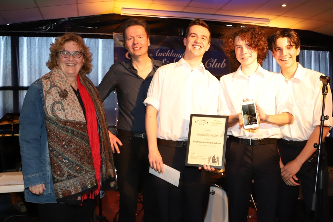 Rangitoto Collegel Bog Band - winner most outstanding big band